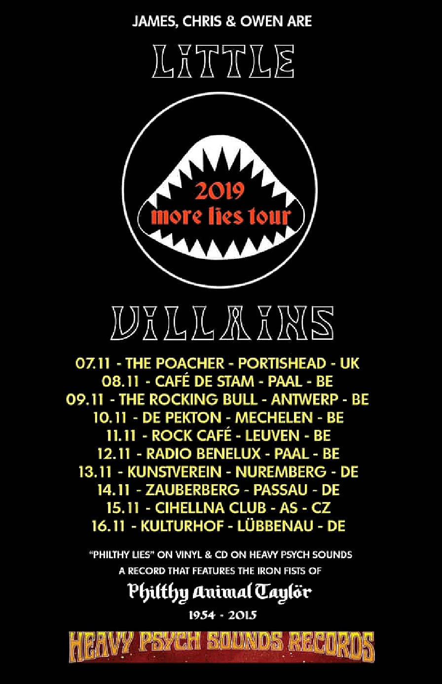 Little Villains No More Lies Tour Poster